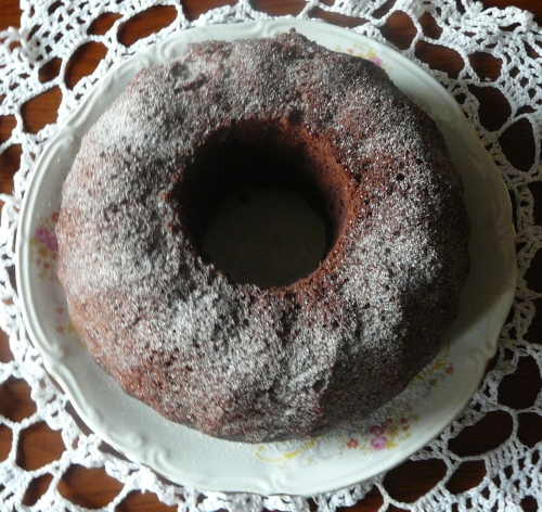 babka czekoladowo-wiśniowa 2